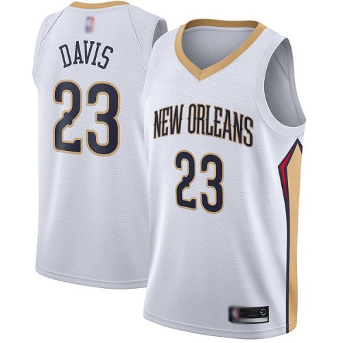 Swingman Youth Anthony Davis White Jersey - #23 Basketball New Orleans Pelicans Association Edition
