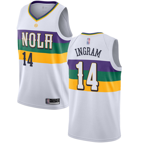 Authentic Men's Brandon Ingram White Jersey - #14 Basketball New Orleans Pelicans City Edition