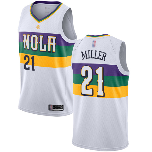Authentic Men's Darius Miller White Jersey - #21 Basketball New Orleans Pelicans City Edition