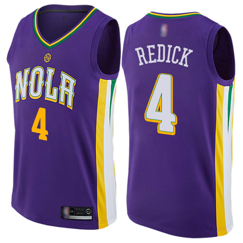 Authentic Men's JJ Redick Purple Jersey - #4 Basketball New Orleans Pelicans City Edition
