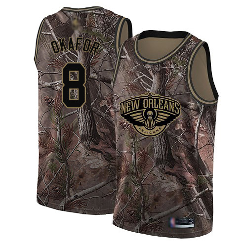Swingman Men's Jahlil Okafor Camo Jersey - #8 Basketball New Orleans Pelicans Realtree Collection