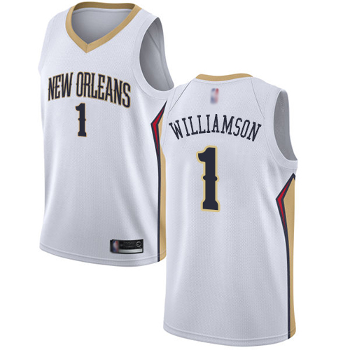 Swingman Men S Zion Williamson White Jersey 1 Basketball